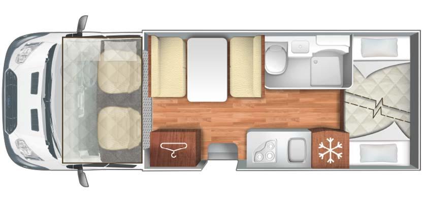 Auto Roller Zefiro 675 Motorhome Layout Floorplan