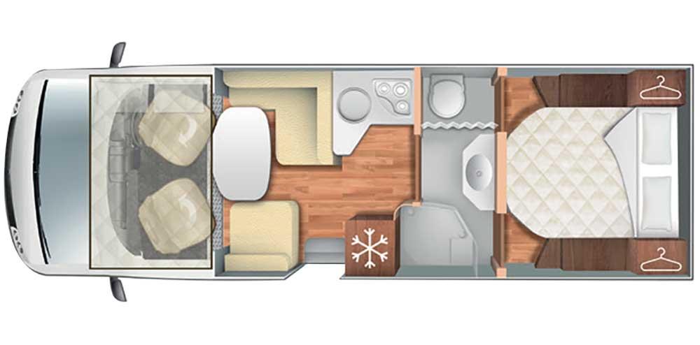 Auto Roller T-Line 740 Motorhome Floorplan Layout